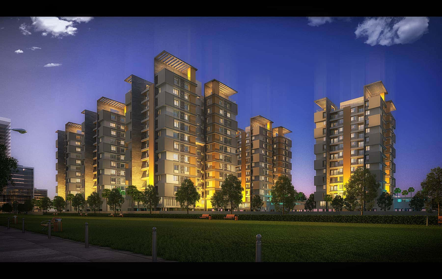 2 BHK & 3 BHK Flats for Sale in Rajarhat, Kolkata | Unimark Merlion